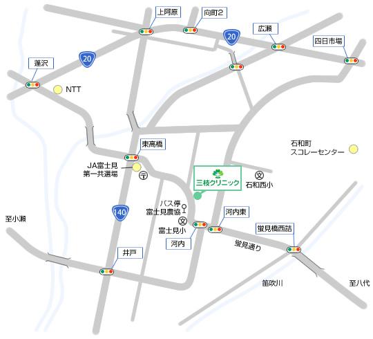三枝クリニック 周辺地図